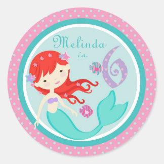 Little Mermaid Sticker Auburn 6B