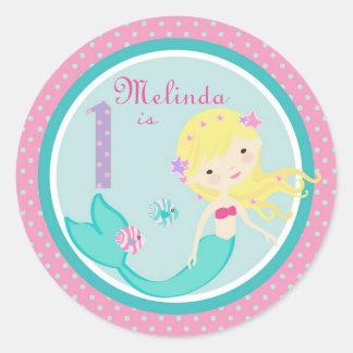 Little Mermaid Sticker Blonde 1