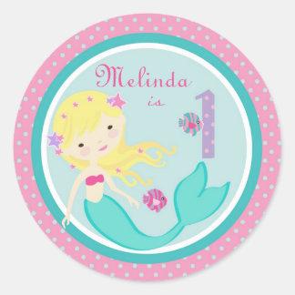 Little Mermaid Sticker Blonde 1B