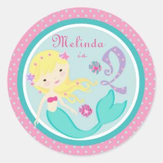 Little Mermaid Sticker Blonde 2B