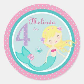 Little Mermaid Sticker Blonde 4