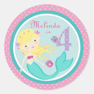 Little Mermaid Sticker Blonde 4B