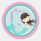 Little Mermaid Sticker Brunette 1