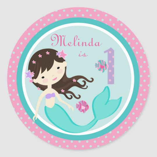 Little Mermaid Sticker Brunette 1B