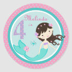 Little Mermaid Sticker Brunette 4