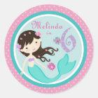Little Mermaid Sticker Brunette 6B