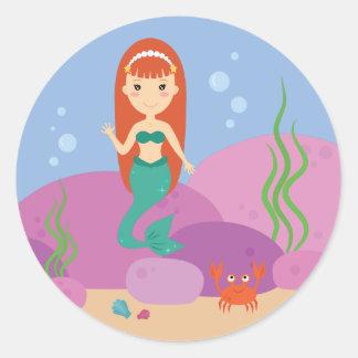 Little mermaid underwater sealife sticker