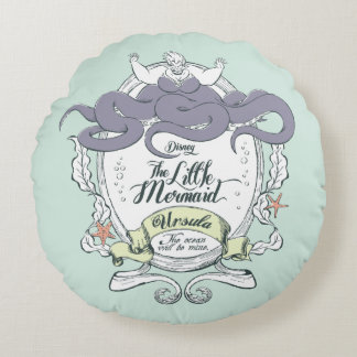 Little Mermaid | Ursula - The Ocean Will Be Mine Round Pillow