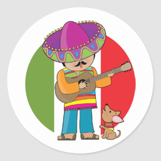 Little Mexico Classic Round Sticker