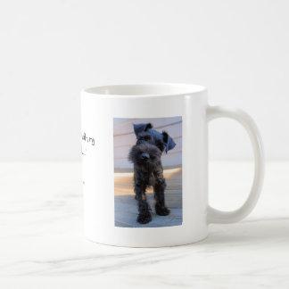 Little Miniature Schnauzer Puppy Coffee Mug