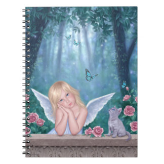 Little Miracles Angel Child & Kitten Notebook