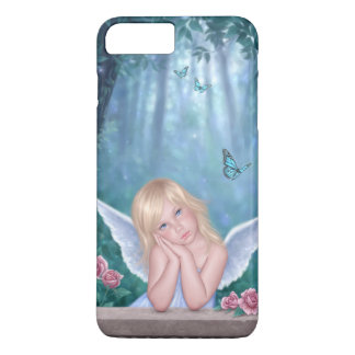 Little Miracles Cute Angel Girl with Butterflies iPhone 7 Plus Case