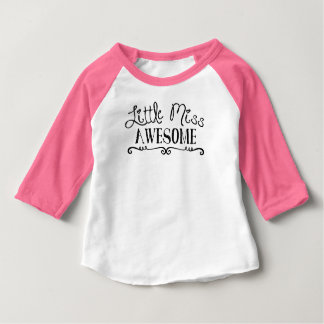 Little Miss Awesome - Infant Baby T-Shirt