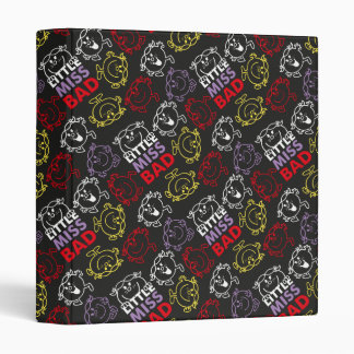 Little Miss Bad | Black, Red & Yellow Pattern Binders