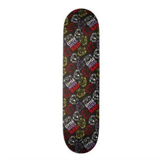 Little Miss Bad | Black, Red & Yellow Pattern Custom Skate Board