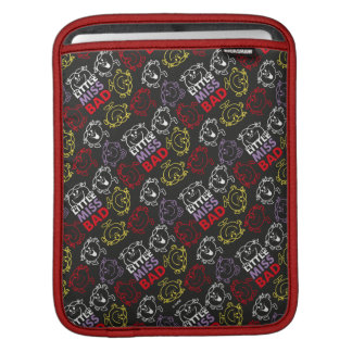 Little Miss Bad | Black, Red & Yellow Pattern iPad Sleeve