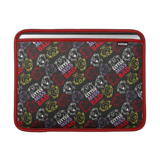 Little Miss Bad | Black, Red & Yellow Pattern MacBook Sleeve