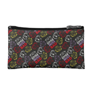 Little Miss Bad | Black, Red & Yellow Pattern Makeup Bag