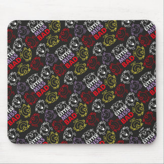 Little Miss Bad | Black, Red & Yellow Pattern Mouse Pad