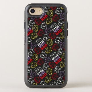 Little Miss Bad   Black, Red & Yellow Pattern OtterBox Symmetry iPhone 7 Case