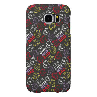 Little Miss Bad | Black, Red & Yellow Pattern Samsung Galaxy S6 Case