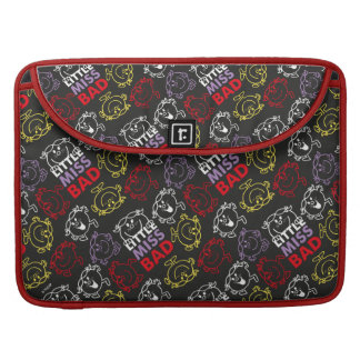 Little Miss Bad   Black, Red & Yellow Pattern Sleeve For MacBook Pro