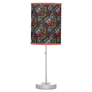 Little Miss Bad | Black, Red & Yellow Pattern Table Lamp
