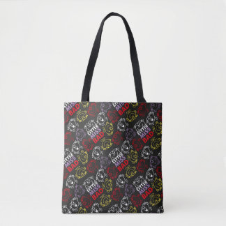 Little Miss Bad | Black, Red & Yellow Pattern Tote Bag