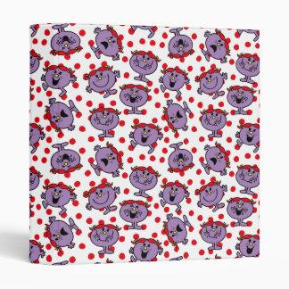Little Miss Bad | Red Polka Dot Pattern Binder
