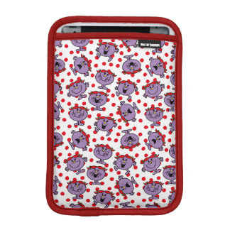 Little Miss Bad | Red Polka Dot Pattern iPad Mini Sleeve