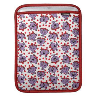 Little Miss Bad | Red Polka Dot Pattern iPad Sleeve