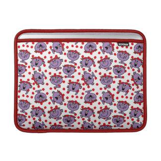 Little Miss Bad   Red Polka Dot Pattern MacBook Sleeve