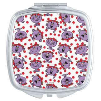 Little Miss Bad | Red Polka Dot Pattern Makeup Mirror