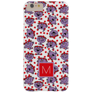 Little Miss Bad | Red Polka Dot Pattern | Monogram Barely There iPhone 6 Plus Case