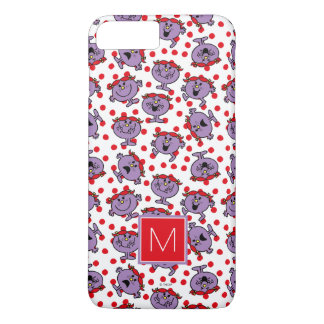Little Miss Bad | Red Polka Dot Pattern | Monogram iPhone 8 Plus/7 Plus Case