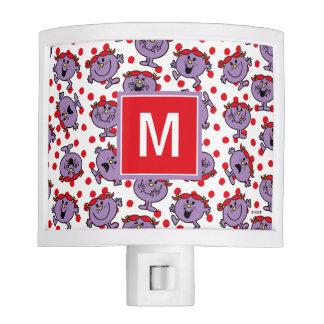 Little Miss Bad | Red Polka Dot Pattern | Monogram Night Lites