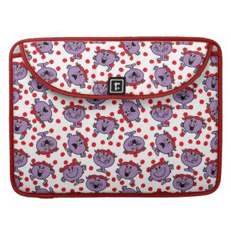 Little Miss Bad   Red Polka Dot Pattern Sleeve For MacBook Pro