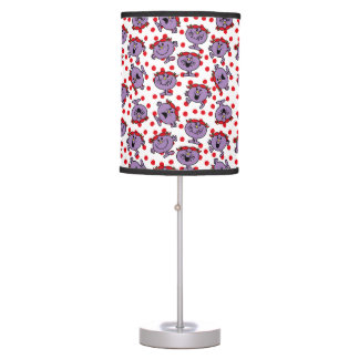 Little Miss Bad | Red Polka Dot Pattern Table Lamp