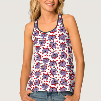Little Miss Bad | Red Polka Dot Pattern Tank Top