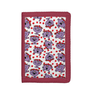 Little Miss Bad | Red Polka Dot Pattern Tri-fold Wallets
