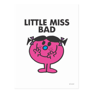 Little Miss Bad   Wicked Smile Postcard