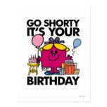 Little Miss Birthday   Go Shorty Version 34 Postcard