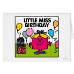 Little Miss Birthday Scene Greeting Card