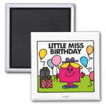 Little Miss Birthday Scene Refrigerator Magnet