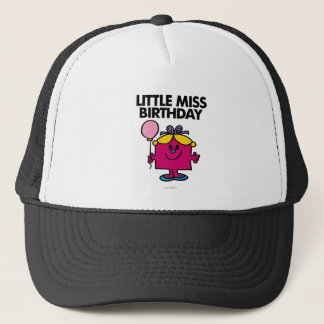 Little Miss Birthday With Pink Balloon Trucker Hat