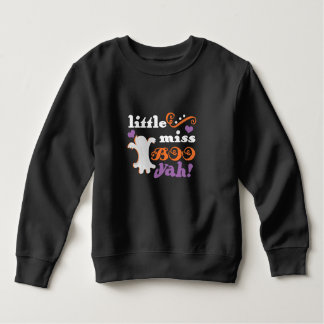 little miss boo yah cute halloween sweatshirt