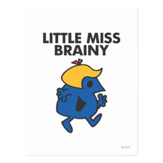 Little Miss Brainy On The Move Postcard