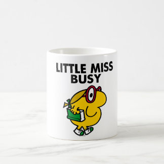 Little Miss Busy   Reading Time Classic White Coffee Mug