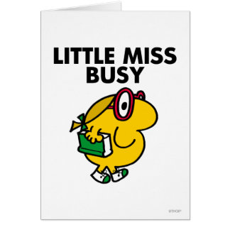 Little Miss Busy | Reading Time Greeting Card