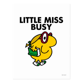 Little Miss Busy | Reading Time Postcard